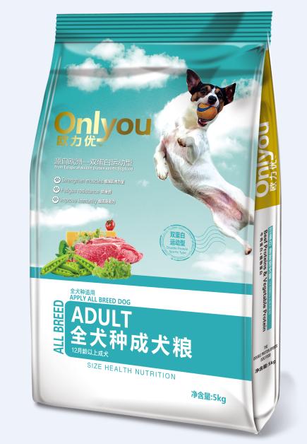欧力优狗粮5公斤通用成犬粮金毛泰迪萨摩耶牛肉味天然犬粮5kg