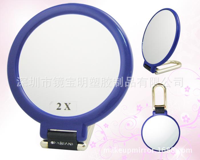 BM-2958 厂家生产圆形双面塑胶手柄化妆镜子