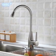 水龙头厂家 厨房冷热水龙头 八角拉丝丹顶鹤龙头 洗菜盆水