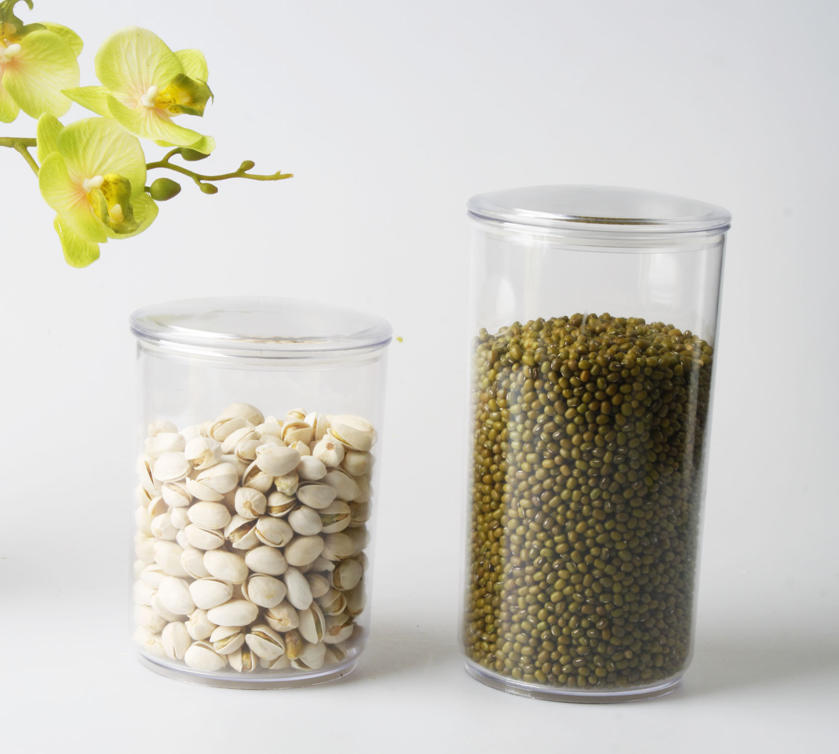 厂家直销 供应塑料3件套圆形密封罐 储物罐 糖罐 TG-0034A