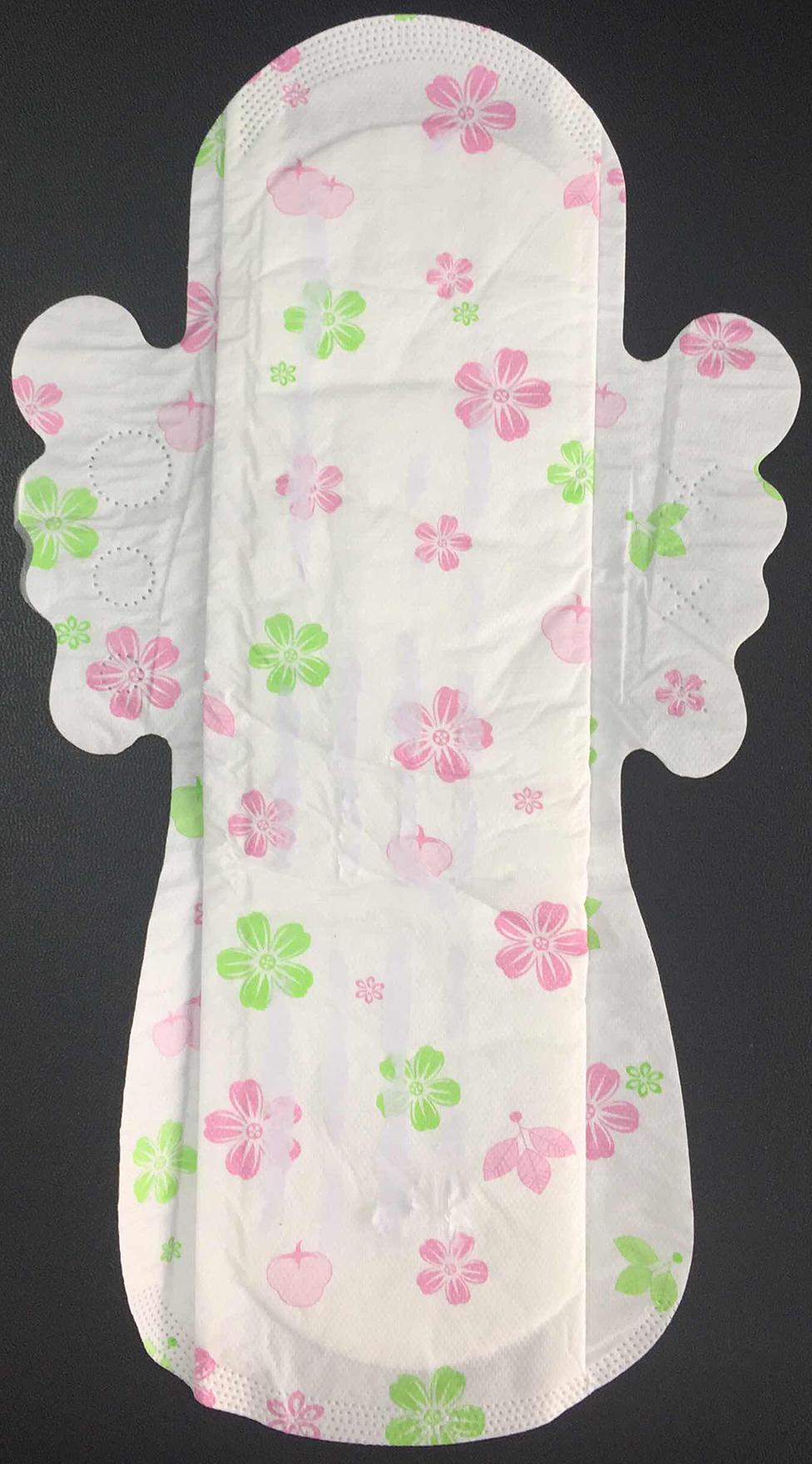 秋花卫生巾厂家40片290MM卫生巾丝溥网面OED贴牌卫生巾