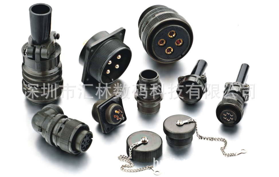 大量生产伺服电机连接器MS3108A20-4S弯管航空插头-价格实