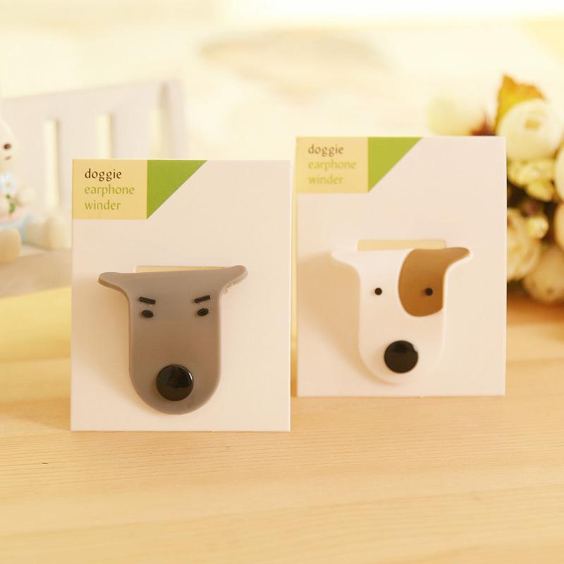C027 百货 韩国创意情侣狗狗耳线整理器|绕线器批发