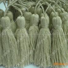 【厂家直销】各种材质亚麻流苏,吊穗,