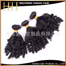 厂家直销 新款funmi curi 可烫染真人假发 机制假发长卷发女