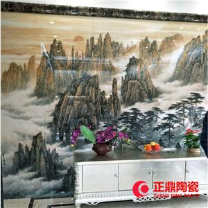 大型墙壁瓷板画定做 大型会议室背景瓷板画