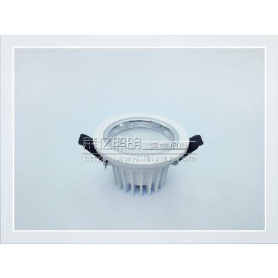供应中山厂家供应 白色压铸筒灯配件 SMD5630贴片筒灯外壳 2.5寸LED压铸灯壳