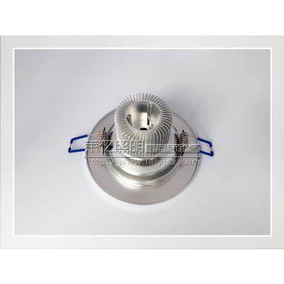 供应中山筒灯厂家 3寸筒灯外壳 LED筒灯外壳配件 5W天花筒灯套件