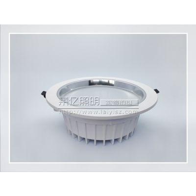 供应筒灯外壳厂家 2.5寸-6寸新款压铸筒灯 车铝面环筒灯套件