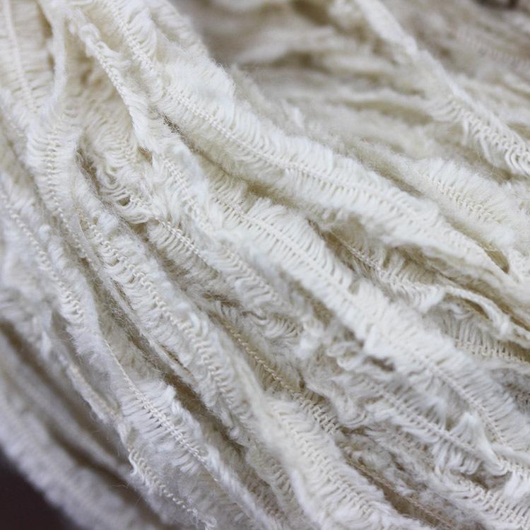 江苏厂家生产 汇彩纺织花式纱 晶星双面绒 质地柔软 机织成衣纱线