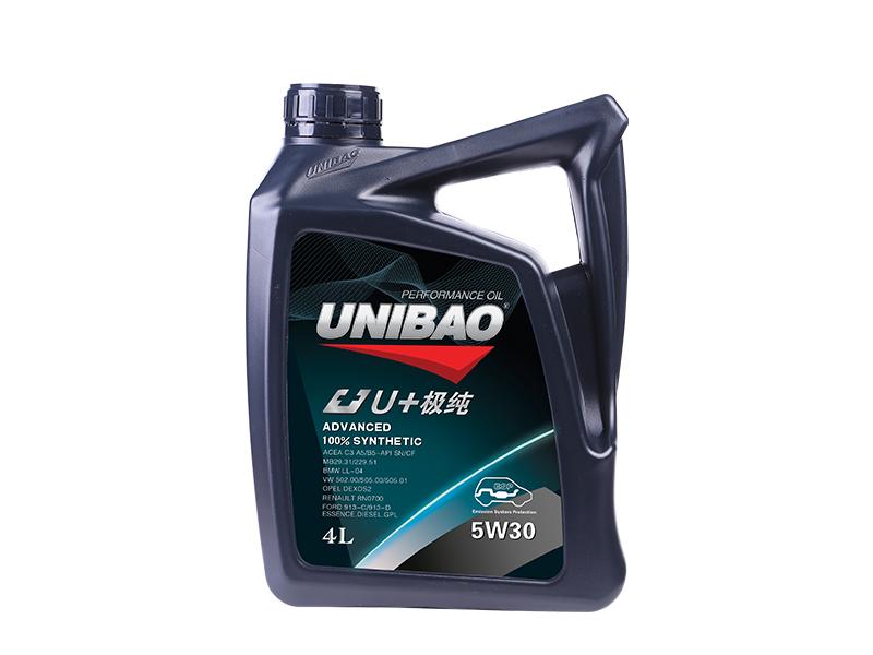 优保U+极纯5W30100%-PAO全合成机油