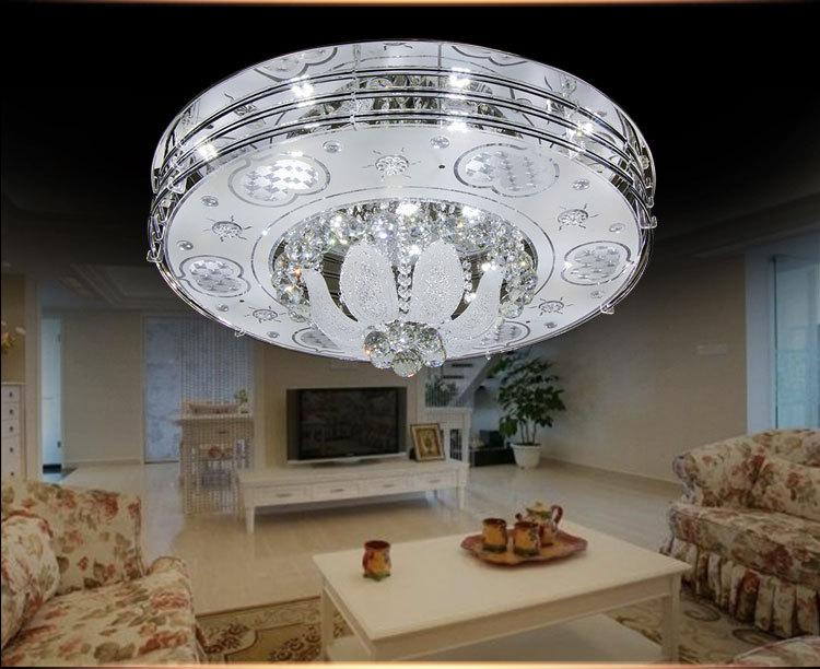 LED吸顶灯 节能水晶客厅灯 现代简约餐厅灯书房卧室吸顶灯具6004