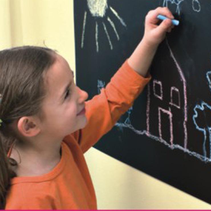 厂家直销-黑板贴 白板贴 绿板贴 墙贴环保可移0.45*2M 送5支粉笔