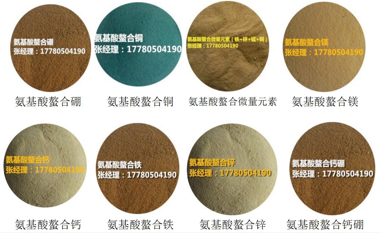 成都厂家供应批发氨基酸螯合钙铁锌锰镁铜钼钙硼 有机肥料