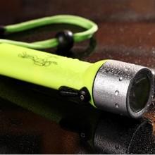 LED防水强光手电筒骑行手电 可充电家用照明手电 铝合金潜