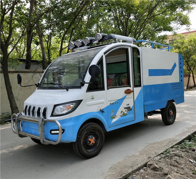 轩丰环卫车辆四轮电动喷洒车道路绿化园林工程抑尘喷水车