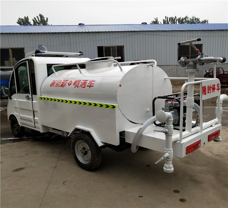 电动喷水车小型电动洒水车轩丰环卫水罐车