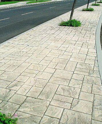 供应厦门人行道路彩色混凝土压花地坪YS03