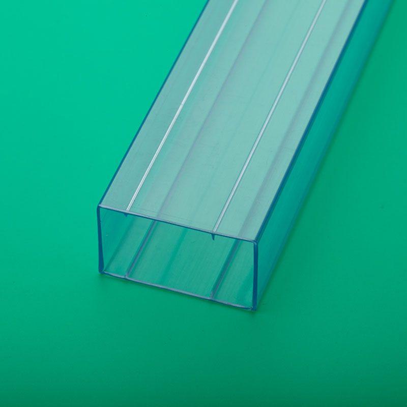 pvc透明方管厂家直供pvc包装管防静电连接器塑料包装管