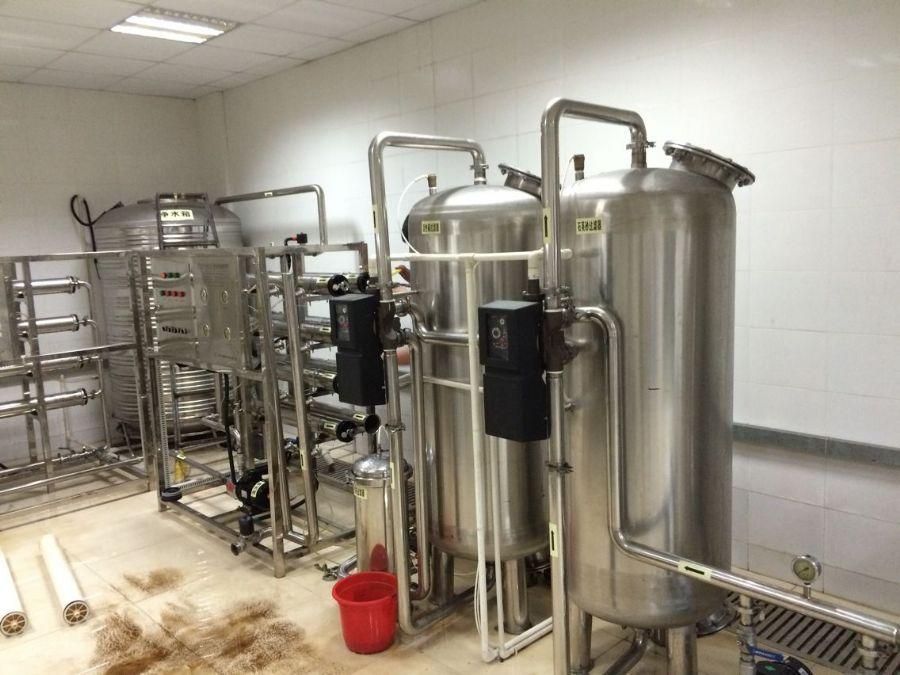 厂家热销1吨小型纯净水设备反渗透纯水设备酒店学校直饮水系统