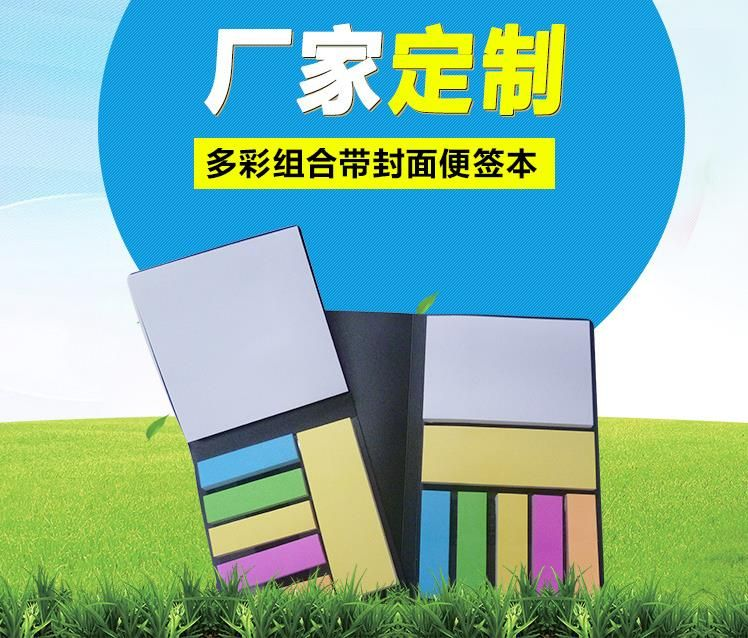 PET彩色便利贴可定制logo