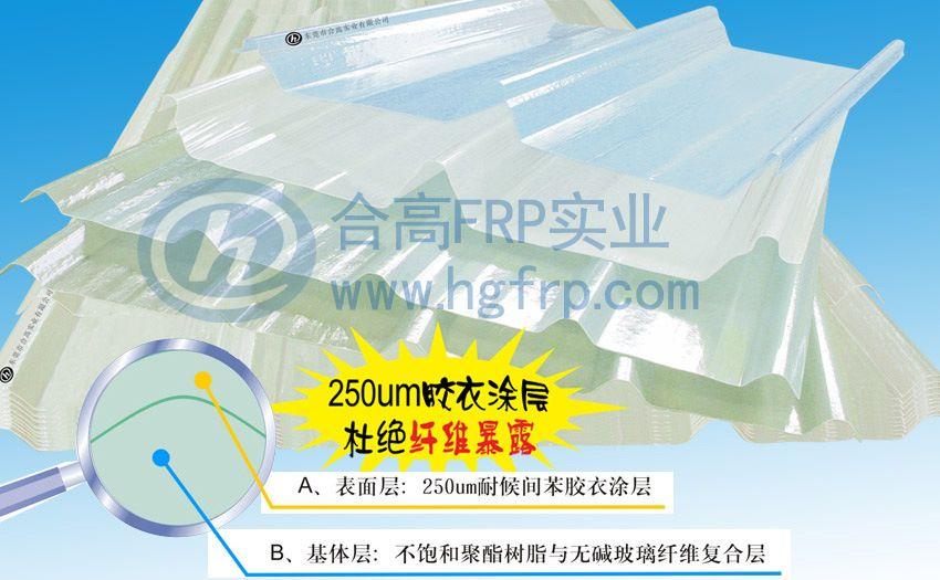 广东合高采光板食品厂屋面板钢材厂铝业厂工业厂房采光板防腐板