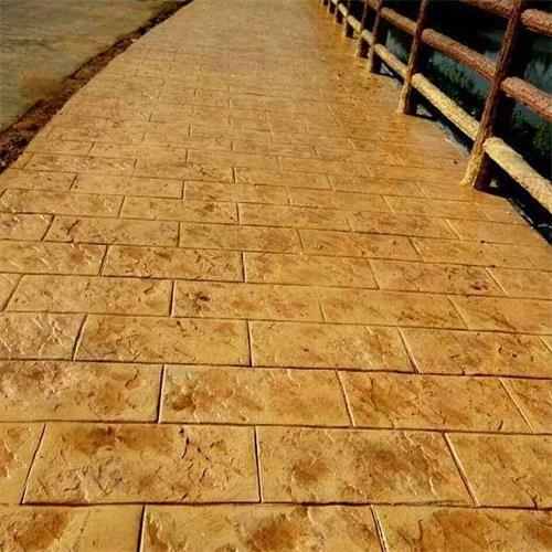 广西贵州艺术印模地面水泥道路印模地坪施工