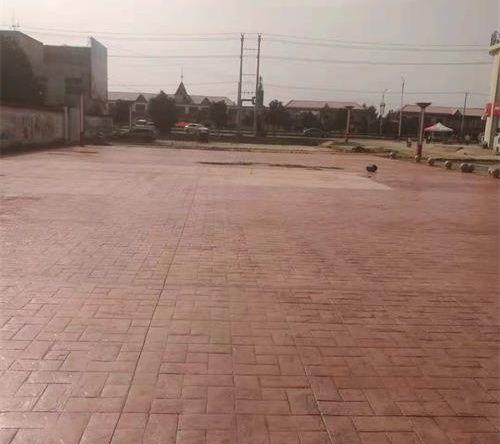 广东湖南彩色水泥印花模具路面印花地坪颜色