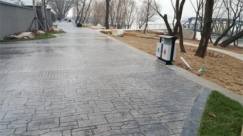 杭州舟山市彩色压印水泥地面压印地坪仿砖石印模地坪