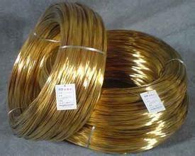 实心黄铜线H65饰品黄铜线0.8-1.0mm直径规格加工黄铜扁线
