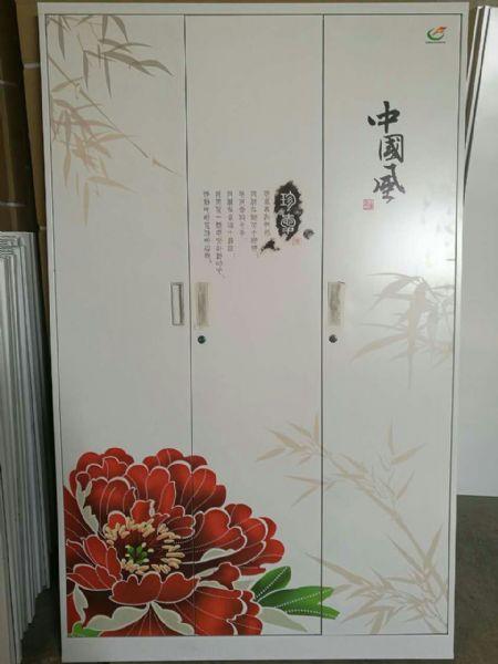 【电脑印花,静电喷塑】供应洛阳电脑印花三门更衣柜