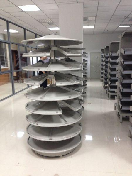 洛阳药盘架厂家立式单面双面抽拉式药盘架出售旋转药盘架定制