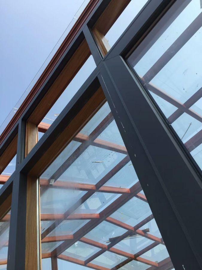 洛阳户外露台花园,节能阳光房,隔热断桥铝门窗安装图片