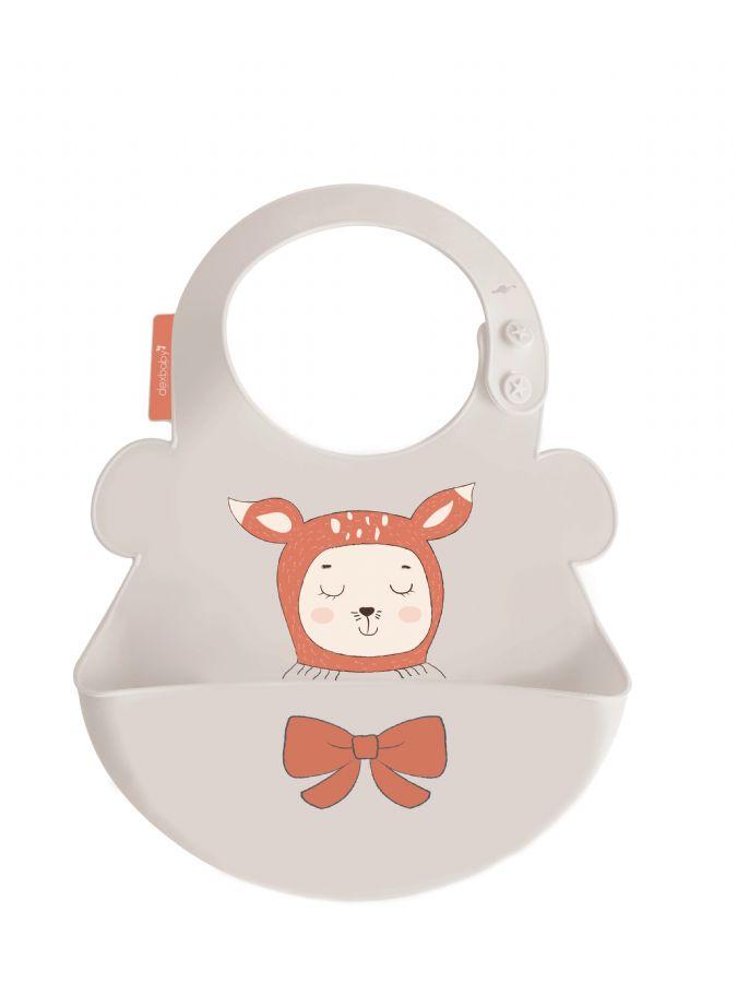 雪卡儿sharecare2018年新款口水兜母婴用品宝宝吃饭硅胶围嘴防水婴儿围兜儿童食饭兜