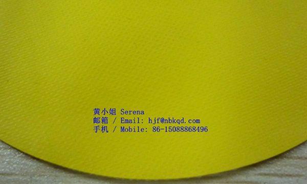 耐强酸强碱黄色双面橡胶尼龙夹网布防护服面料