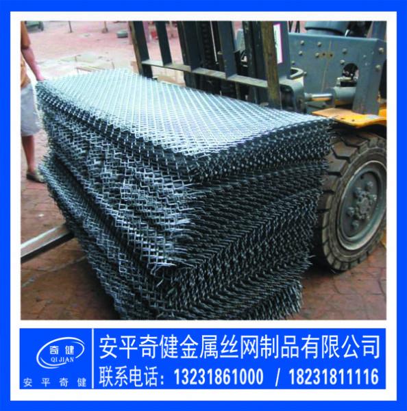 无锡【菱形拉伸网】重型脚踏网防锈漆钢板网---安平奇健厂家