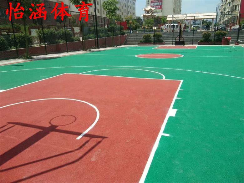篮球场塑胶地面施工价格