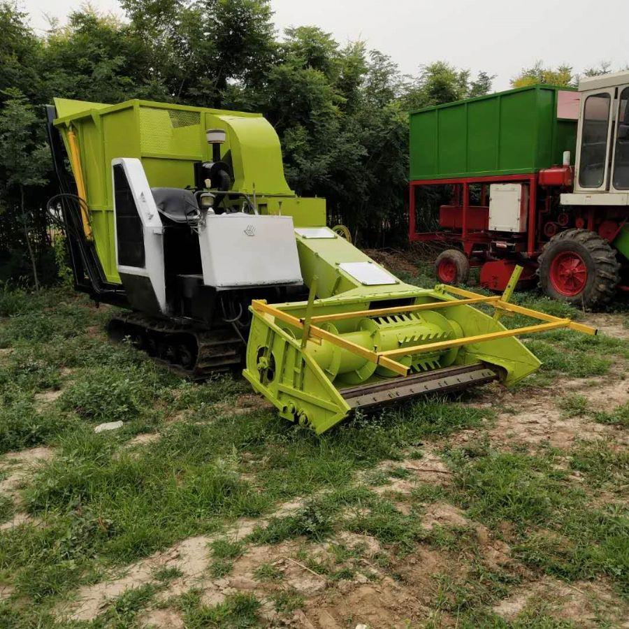 厂家定做大型玉米秸秆青储机牧草收割机